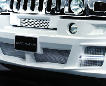 STAINLESS STEEL MESH GRILLE SET for FRONT BUMPER SPOILER
